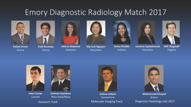 Newest Class of Residents Named on Match Day
